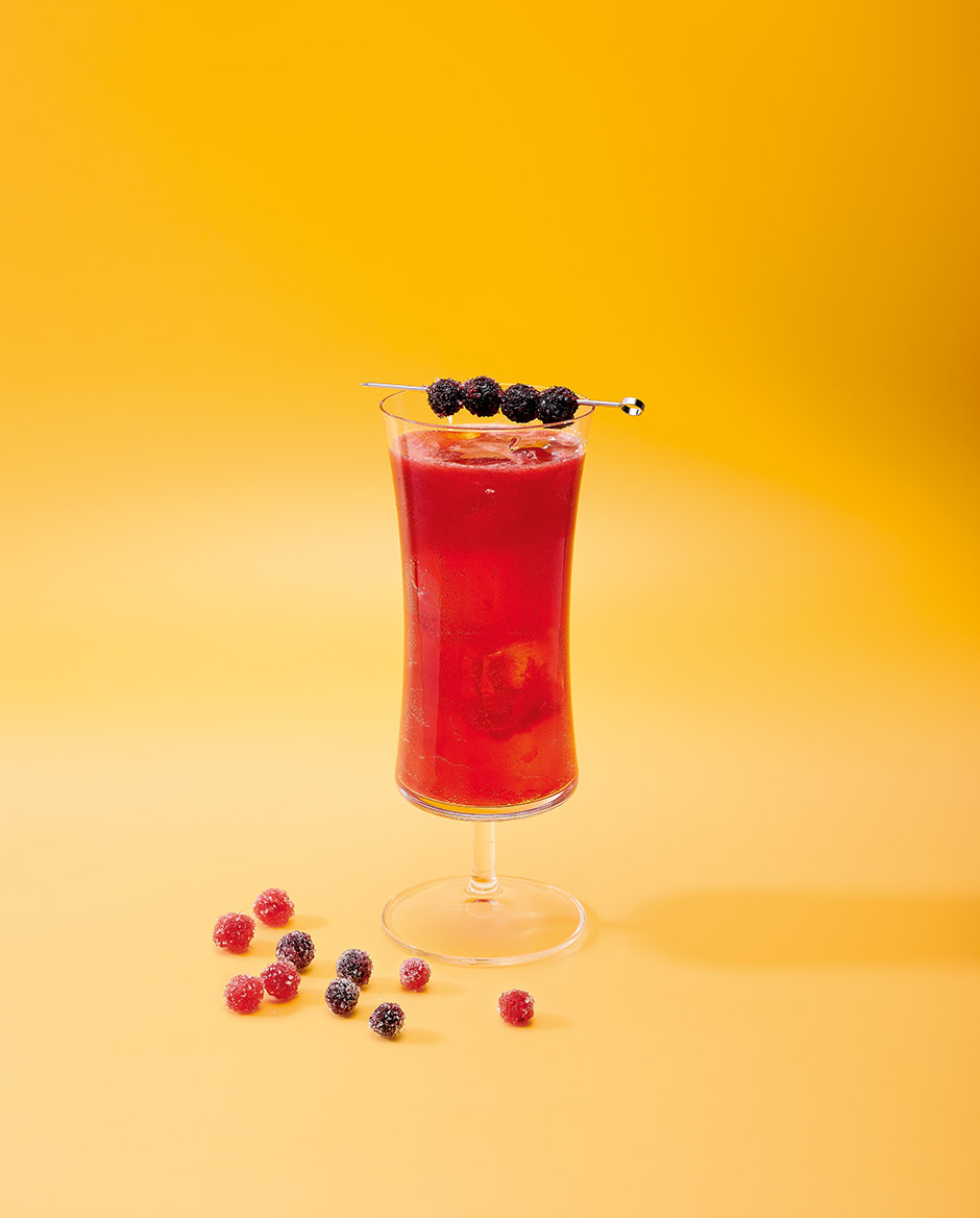 blueberry velvet mocktail